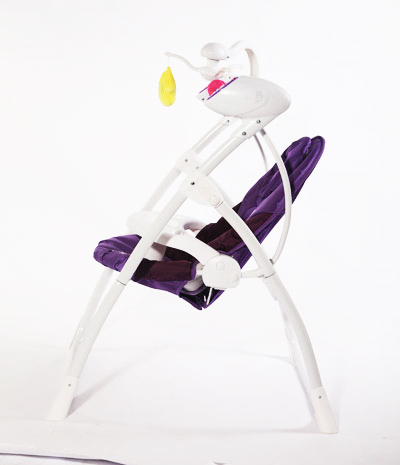 Baby swing electric luxury adjustable backrest toy bar fold infant CE NB-SW105