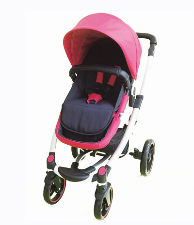 Baby stroller luxury shock absorption aluminum pram 3 in 1 high class NB-BS507